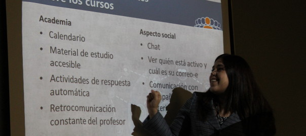 Ms. Bessie Rivera during the National University College Online presentation