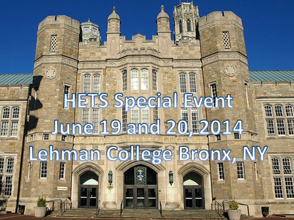 Watch here the videos of the HETS Technology Showcase Event held June 19 and 20, 2014 in New York.