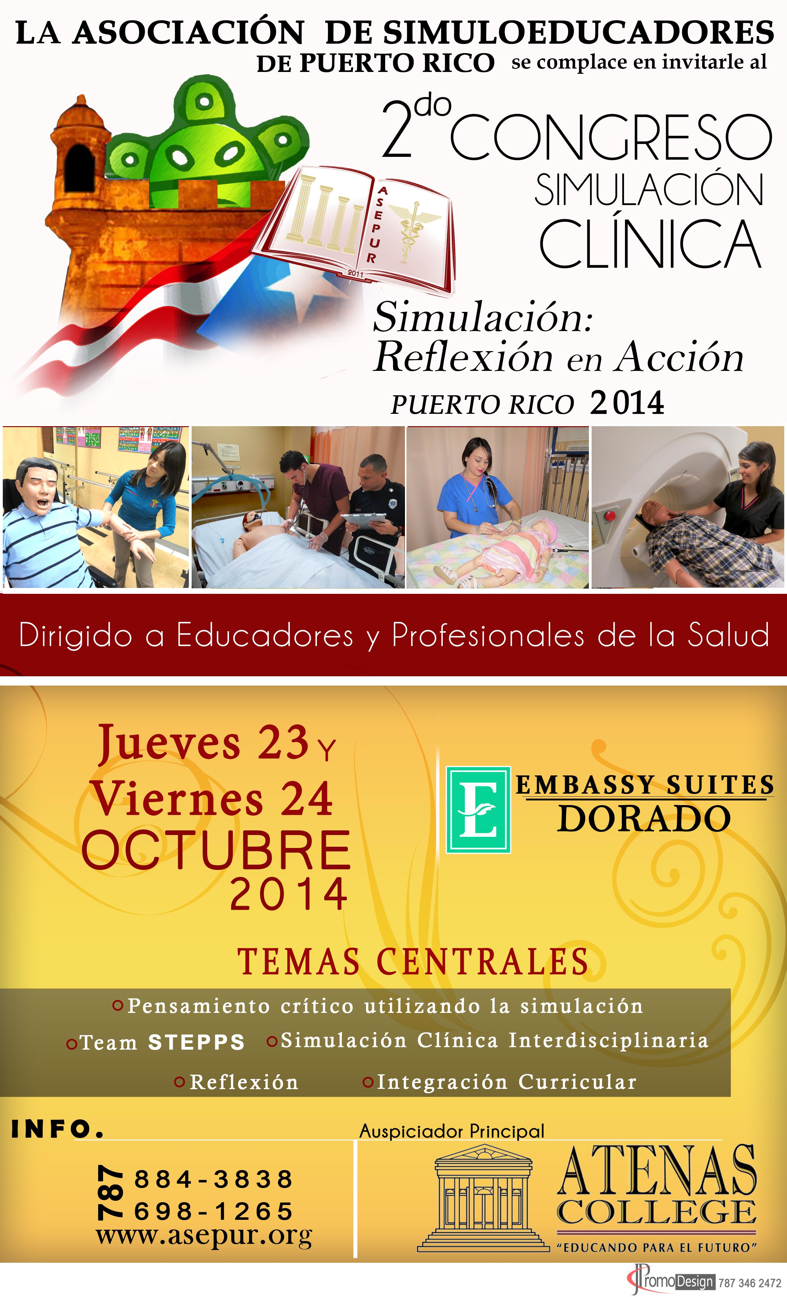 2do Congreso de Simulación Clínica- auspiciado por Atenas College.
