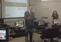Information Technology Showcase event: presentation of the Lehman College Dashboard Tool in PR.