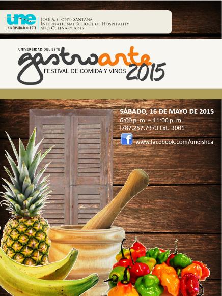 Festival de sabores en Gastroarte 2015, Universidad del Este, Carolina-