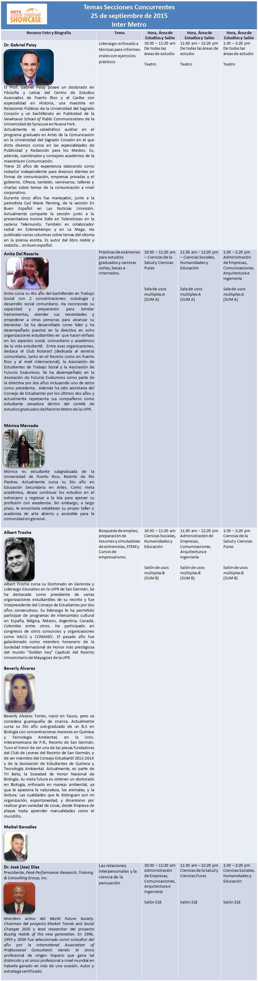 Agenda Secciones Concurrentes- Sept 2015