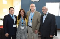 From left to right: Manuel Fernós, Esq., HETS Chairman & President UIPR; Yubelkys Montalvo HETS Executive Director; John Sener, keynote speaker, and Alberto Maldonado, Esq., Chancellor, UNE Carolina.