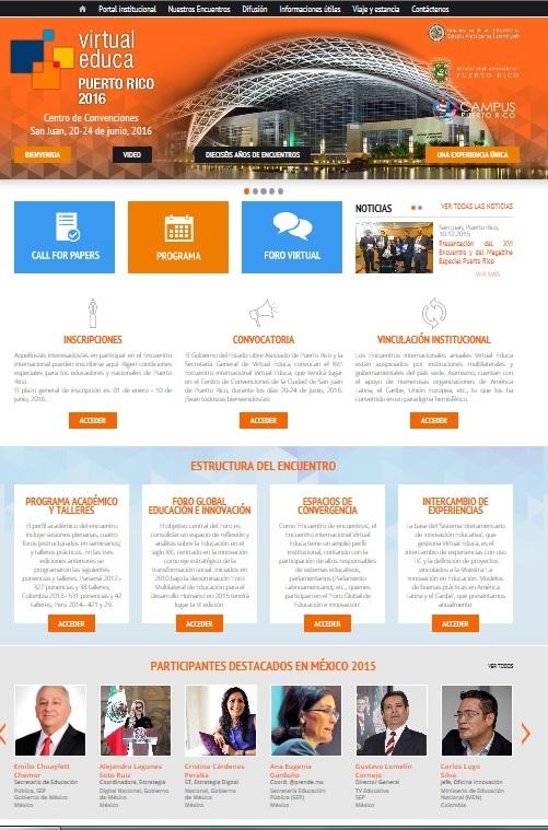 Visite el portal oficial del XVII Encuentro Internacional Virtual Educa en Puerto Rico.
