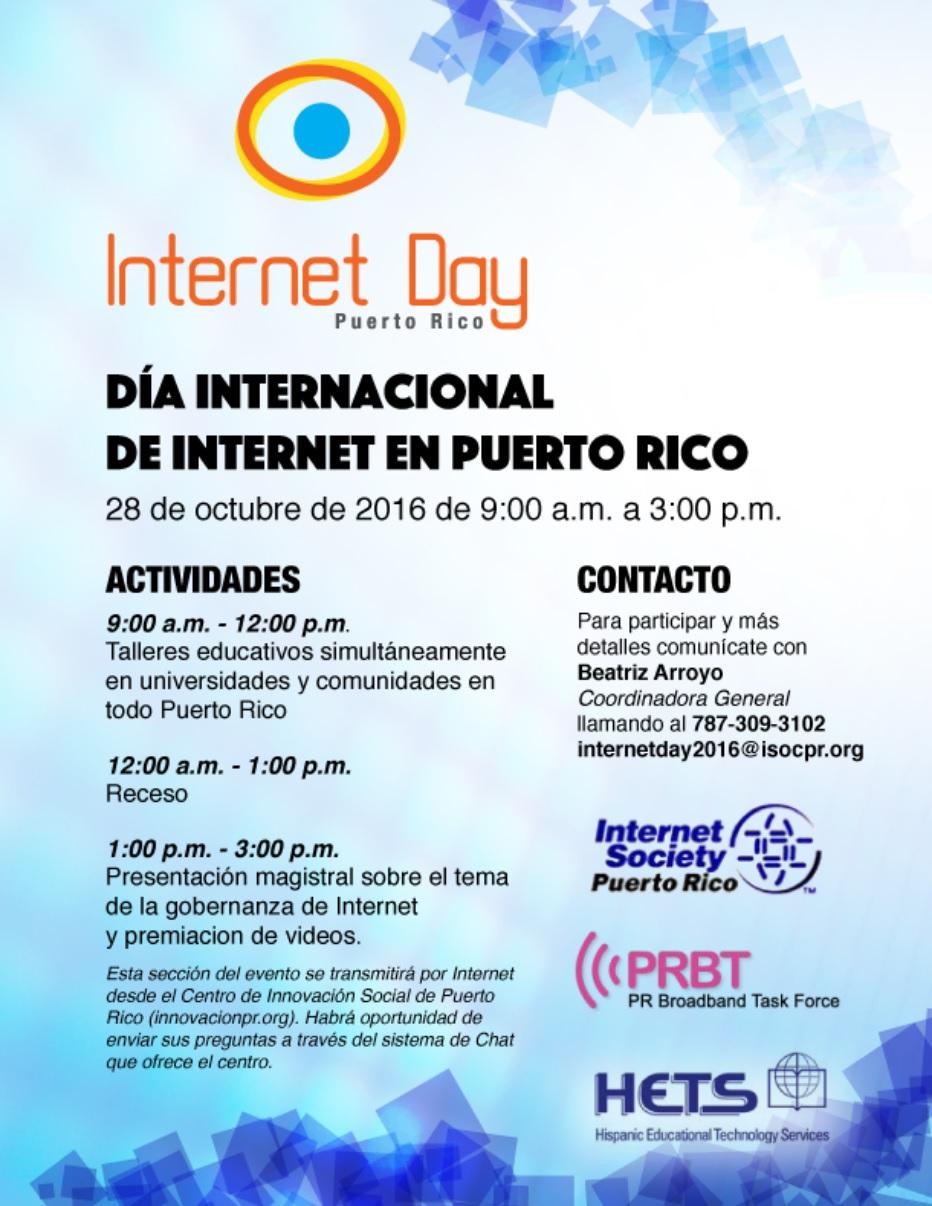 Día del Internet en Puerto Rico- 28 de octubre de 2016