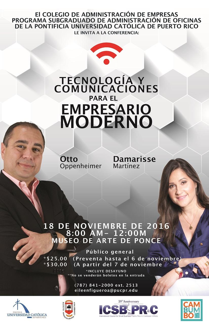 Evento: Tecnología y Comunicaciones para el Empresario Moderno (18 de noviembre).