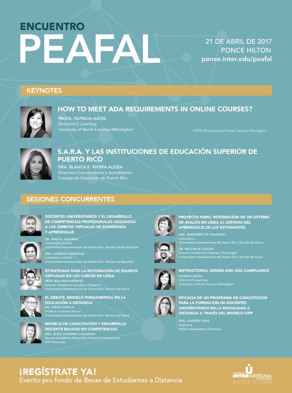 Encuentro PEAFAL- 21 de abril de 2017, Ponce Hilton